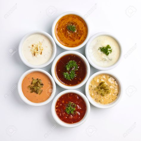 27638398-several-sauce-with-different-sauces-Stock-Photo